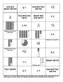 Relating Decimals and Fractions Matching - Tenths