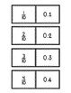 Relating Decimals to Fractions (Tenths & Hundredths) Matching Card Game
