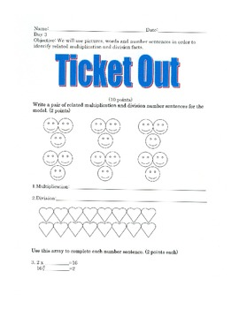 Relating Division with Multiplication and Pictures- By: Ms. Bisker