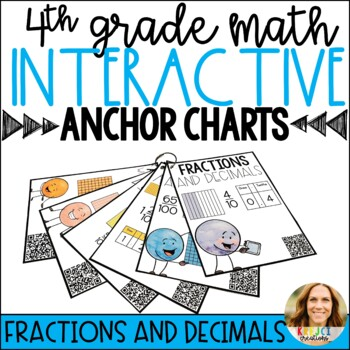 Distance Learning | Fractions & Decimals Interactive Anchor Charts with QR Codes