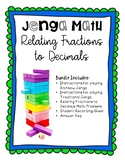 Relating Fractions to Decimals JENGA Review Game