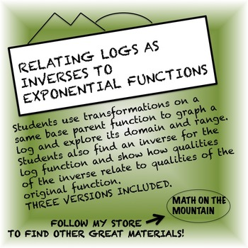 Relating Logs as Inverses to Exponential Functions