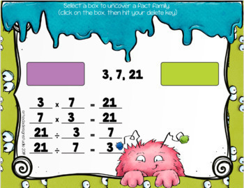 Relating Multiplication Division Fact Family Google Classroom Distance Learning