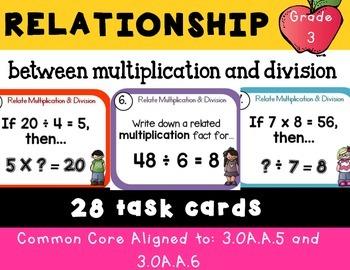 Relating Multiplication and Division 3.OA.B.5, 3.OA.B.6, 3.OA.C.7