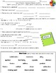 Relating Multiplication to Division Vocabulary Worksheets and Assessments