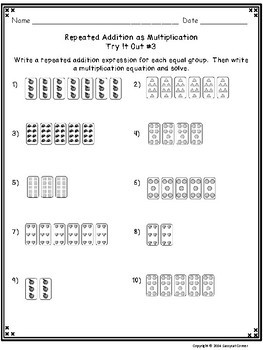 Multiplication Files - Relating Repeated Addition to Multiplication Task Cards