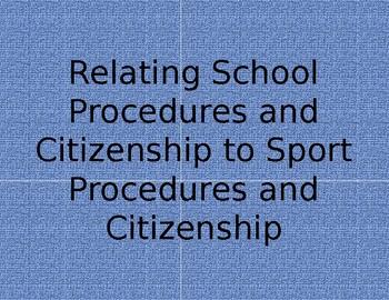 Relating School Procedures and Citizenship to Sportsmanship