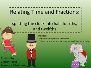 Relating Time and  Fractions:  Splitting the Clock Into Parts