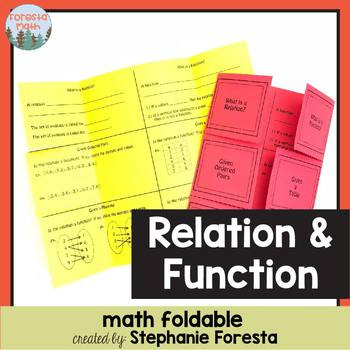 Relation and Function Foldable