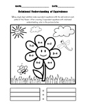 Relational Understanding Coloring Page (Spring)
