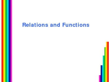 Relations and Functions Powerpoint
