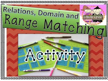 Relations, Domain & Range Matching Activity