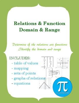 Relations & Functions: Domain & Range