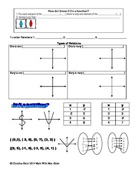 Relations & Functions Guided Notes
