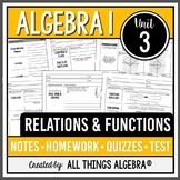 Relations and Functions (Algebra 1 Curriculum - Unit 3)