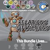 Relations, Functions & Patterns -- Algebra Curriculum Unit Bundle