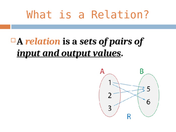 Relations & Functions PowerPoint