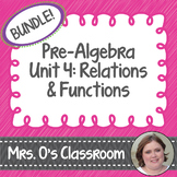 Relations & Functions Unit: Notes, Homework, Quizzes, Stud