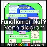 Function vs. Relation Venn Diagram Sorting Activity - print and digital