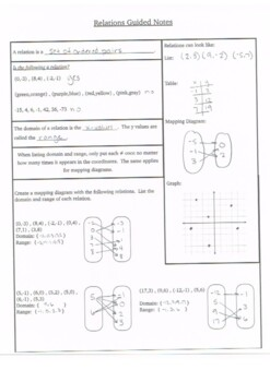 Relations Guided Notes