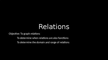 Relations - PowerPoint Lesson (2.10)