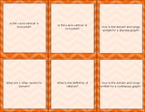 Relations and Functions Flashcards