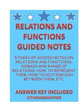Relations and Functions Guided Notes