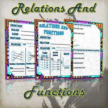 Relations and Functions- (Guided Notes and Practice)