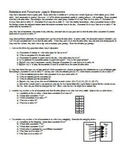 Relations and Functions: Joey's Restaurant with Answer Key