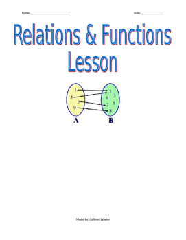 Relations and Functions Lesson