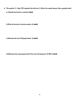 Relations and Functions Test (V1) - with FULL SOLUTIONS