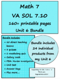 Math 7 Virginia VA SOL 7.10 Relations and Functions Unit 6 Bundle