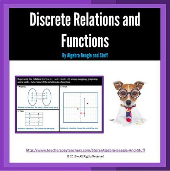 Relations as Maps, Tables, and Graphs.  Is it a Function? Scaffold Notes