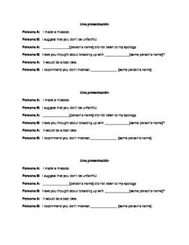 Relationship Advice Presentation, Expresate Chapter 3, Spanish 3