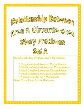 Relationship Between Area and Circumference of Circle Story Problems