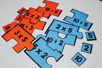 Relationship Between Multipication and Division Number Puzzle