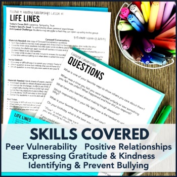 Relationship Building and Anti-Bullying Skills Activity 6-Pack
