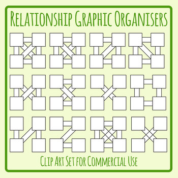 Relationship Ideas Graphic Organizers / Organisers Clip Art Set Commercial Use