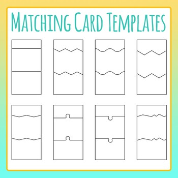 Relationship Matching Cards - Vertical Puzzles Clip Art for Commercial Use