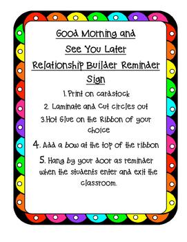 Relationship Reminder Sign
