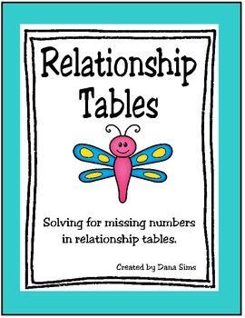 Relationship Tables (Input-Output Tables)
