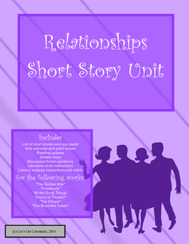 Relationship Short Story Unit