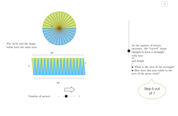 Relationship between Circumference and Area - Math - Interactive GeoGebra Applet