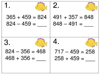 Relationship of Addition and Subtraction