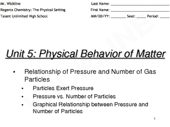 Relationship of Pressure and Number of Gas Particles
