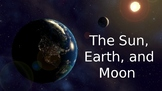 Relationship of the Sun, Earth, and Moon PowerPoint (WITH PHASES)