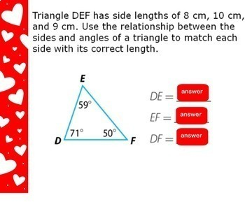 Relationships Between Sides and Angles of a Triangle Triangles Smartboard Lesson