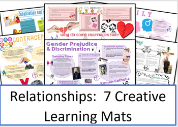 Relationships: Philosophy and Ethics: 7 Creative Learning Mats