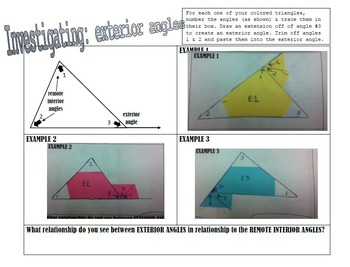 Relationships Within Triangles VALUE PACK
