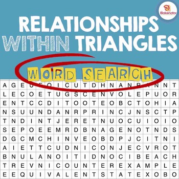 Relationships Within Triangles Word Search Activity